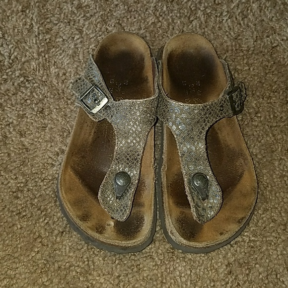 989a74c784cc Birkenstock Shoes - Papillio gizeh Birkenstock size 37 Brown w silver